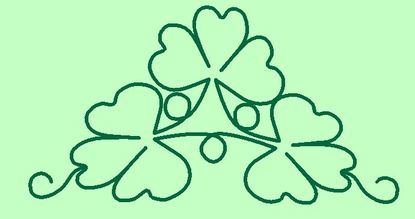 Shamrock Quilting Design
