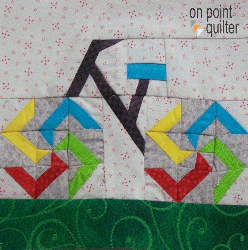 Paper Pieced Pattern Available at On Point Quilter