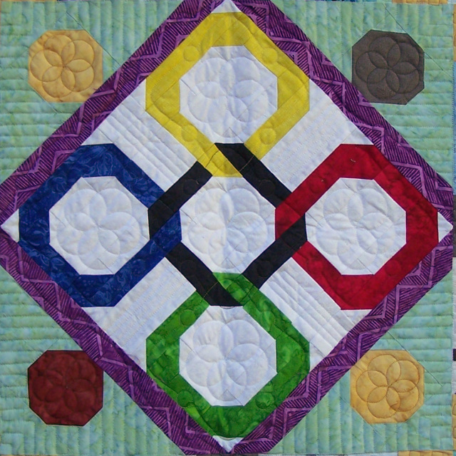 Infinite Circle Block Quilting Design