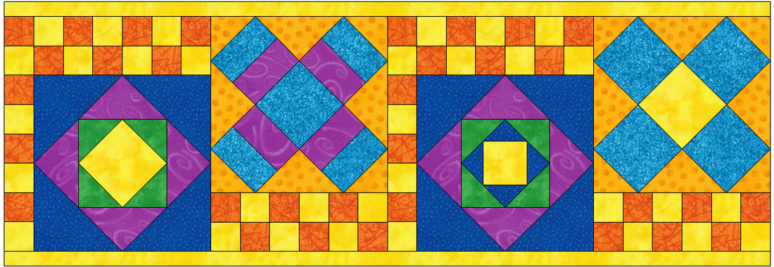 Electric Quilt Square within a Square