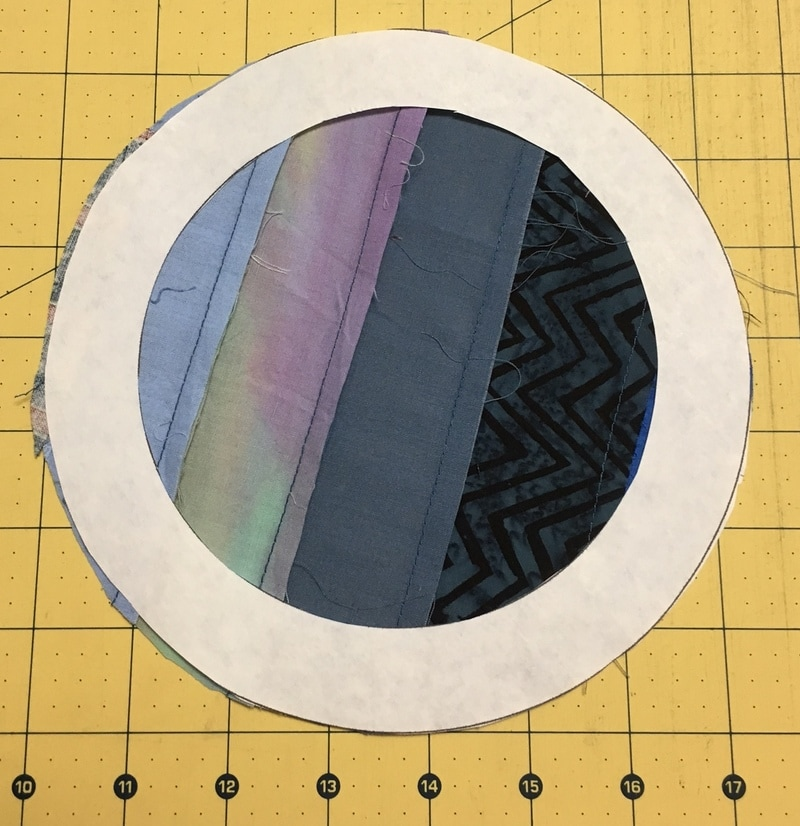 String Pieced Applique Quilt by On Point Quilter