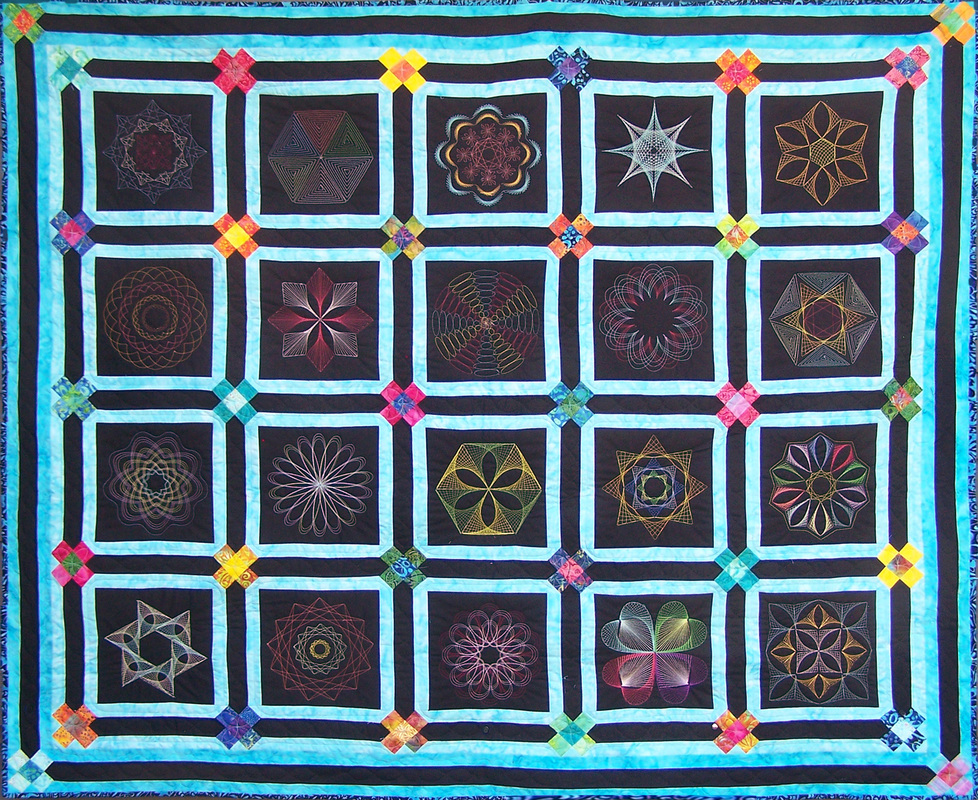 Thread Art Designs available for purchase from On Point Quilter.