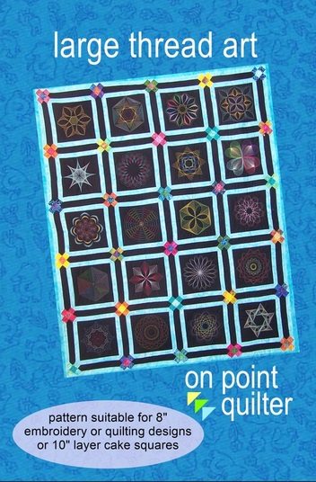 Large Thread Art Design Available for Embroidery and Quilting Formats from On Point Quilter