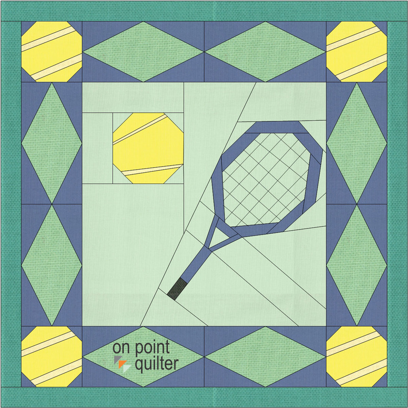 Tennis Quilt Drafted in Electric Quilt